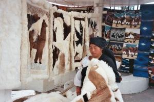 Alpaca fur rugs