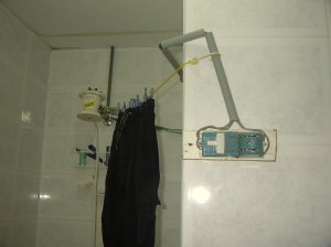 The open switch for the electronic showerhead