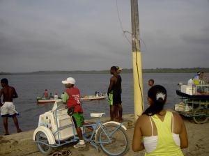 An ice cream vendor