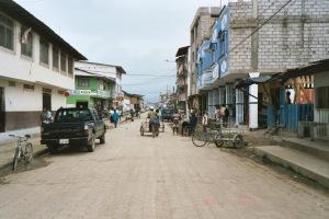 A downtown street