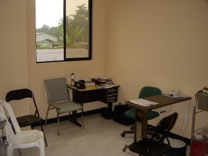 Jane's office/exam room.  The open window allowed a nice breeze that kept the room much more comfortable.