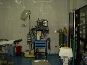 The anesthesia machine.