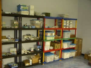 More of the supply room.