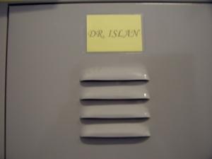 My locker door.