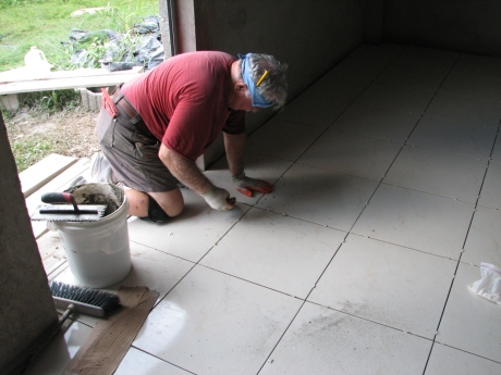 Last tile going in