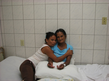 Carmen and her mother, now a new member of the family of God.