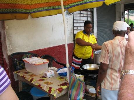 The morocho and tortilla vendor