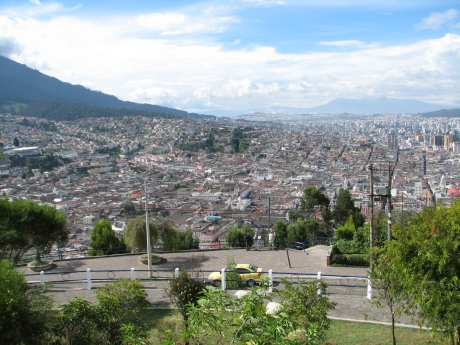 Looking at Quito from the highest point.
