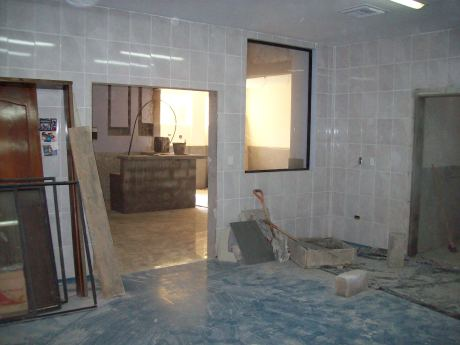 Operating room  looking into recovery room and its nursing station
