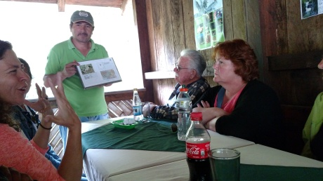 Receiving instruction about the black bears of Ecuador